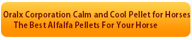 Oralx Corporation Calm and Cool Pellet for Horses button